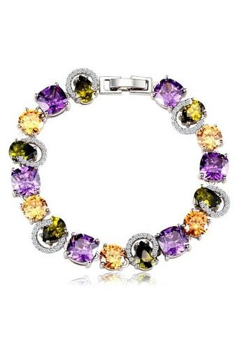 Vivere Rosse multi Simply Gorgeous Cubic Zirconia Bracelet VI014AC27IBWMY_1
