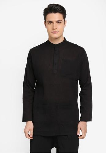 Rizalman for Zalora black Arjuna Top Baju Melayu RI909AA0SF04MY_1