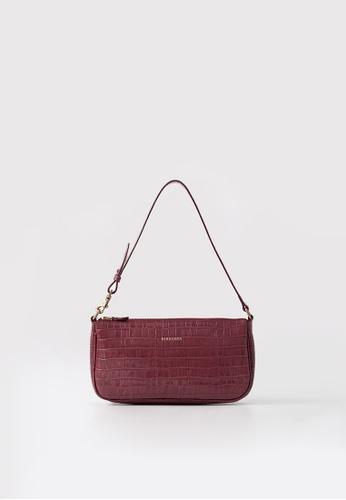 BERACAMY red BERACAMY CLARA Wristlet Clutch - Embossed Burgundy 7CC9DAC4F7D099GS_1