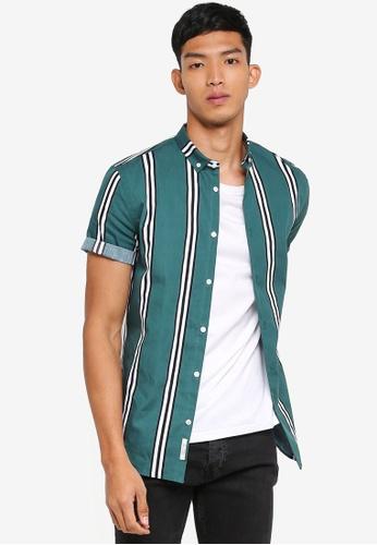 River Island green Black Deck Stripe Shirt 051D2AAC08EA45GS_1
