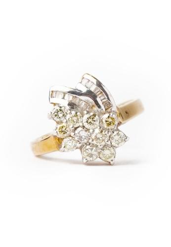 CEBUANA LHUILLIER JEWELRY gold 14K Karat Two Tone Gold Lady Ring with Diamonds 70B44ACAF30EBFGS_1