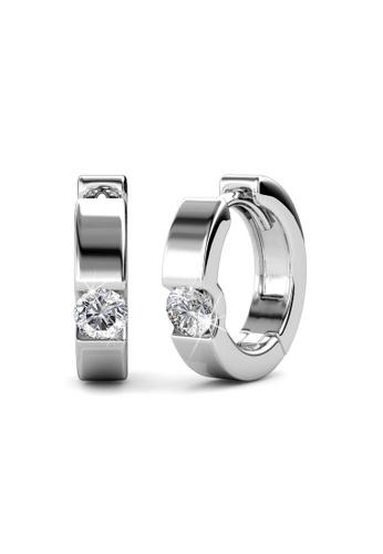 Her Jewellery silver Swarovski® Crystals - Rox Earrings (18K White Gold Plated) Her Jewellery HE581AC0RAZOMY_1