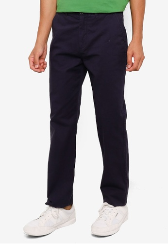 Springfield navy Stretch Chino Pants A94B5AA75D9AF2GS_1