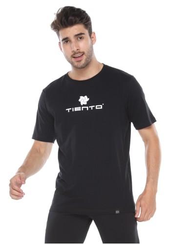 Tiento black Tiento T-Shirt To Go Black Baju Kaos Lengan Pendek 84CBCAAA117F43GS_1