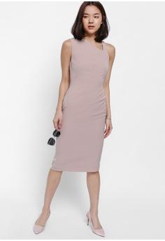 1069ed301d87 Love, Bonito pink Ashtene Asymmetrical Neck Midi Dress 889CCAA656B227GS_1