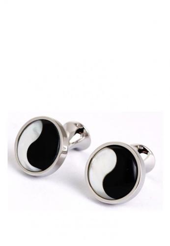 Kings Collection black Tai Chi Cufflinks 120A2ACFC46627GS_1