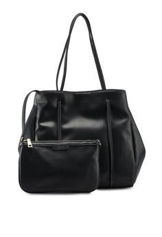 8cf9dec8225 VINCCI black Faux Leather Shoulder Bag ECB8AACC1790FDGS 1