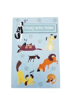 Dog Party Sticky Notes Folder