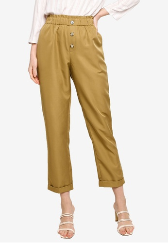 ZALIA BASICS brown Paperbag Trousers E42C5AA3B4CE47GS_1