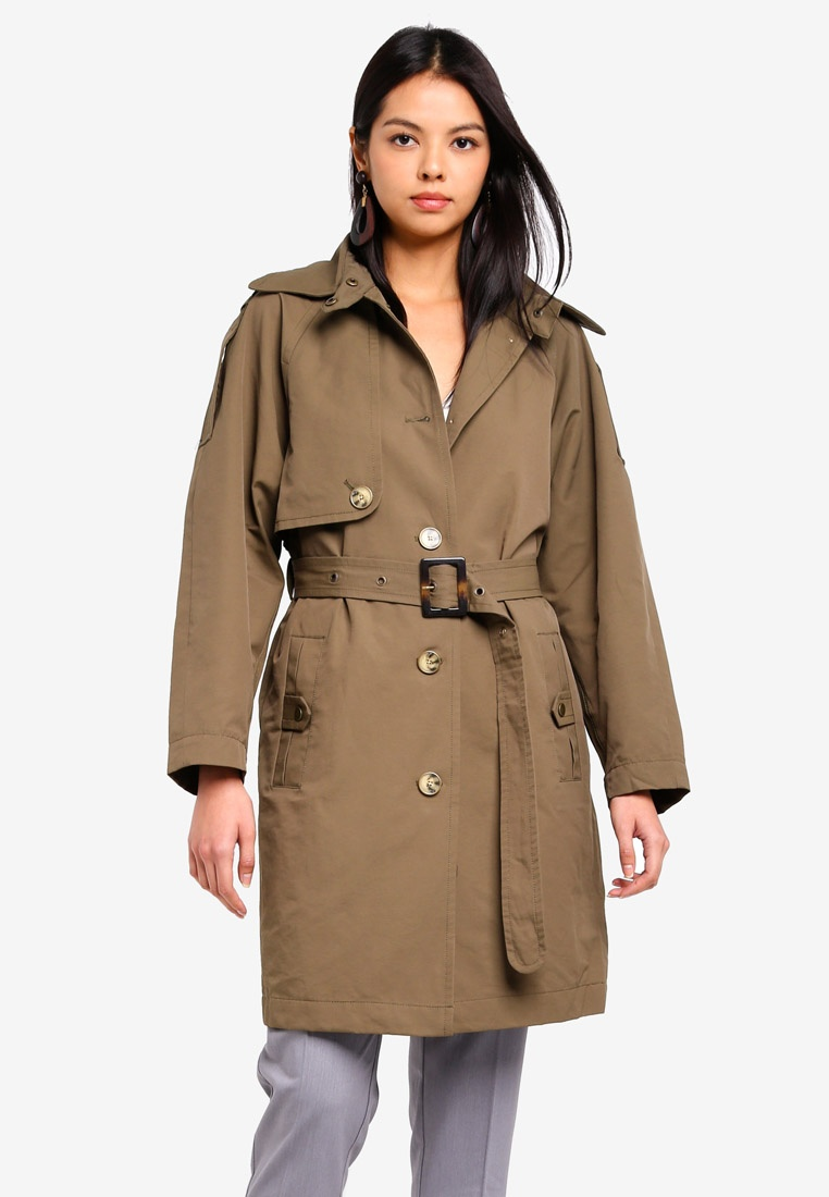 ESPRIT ESPRIT Regular Coat Woven Woven Green Bvwd0B