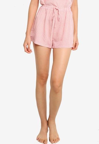 ZALORA BASICS pink and multi Lounge Drawstring Pyjama Shorts 2CB2BAA2DBC6A2GS_1