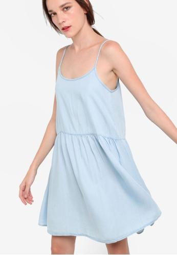 MANGO blue Soft Fabric Dress MA193AA06OVPMY_1