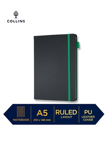 Collins green Collins Vauxhall Contrast  ─  NotebookPocket Ruled Green 4CECCHL05A8554GS_1