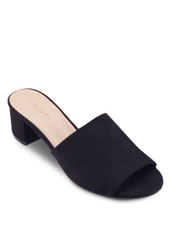 寬帶粗跟低跟涼鞋, esprit 評價女鞋, 低跟