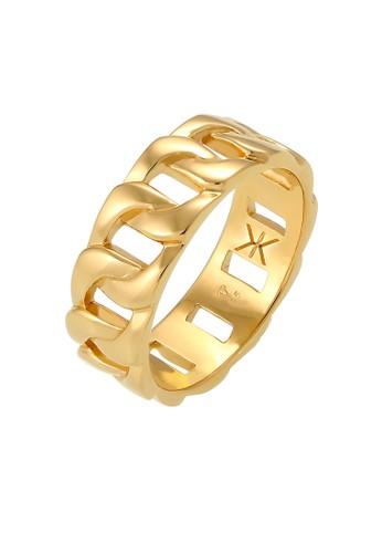 KUZZOI gold Perhiasan Pria Perak Asli - Silver Cincin Statement Chunky Massive Gold Plated CA2D5AC5E3E803GS_1