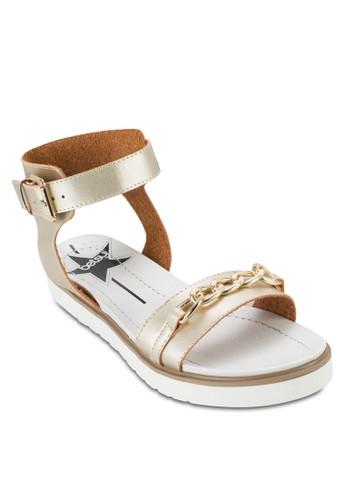 鍊飾繞踝厚esprit 香港底涼鞋, 女鞋, 鞋