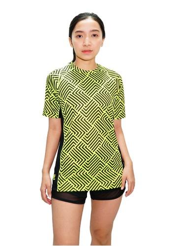 Trijee green Trijee Women Short Sleeve Tee Halu Series 2 Green Volt 4D436AA6EDC4A8GS_1
