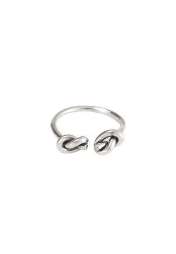 A-Excellence silver Premium S925 Sliver Braided Ring C0C89ACC023479GS_1