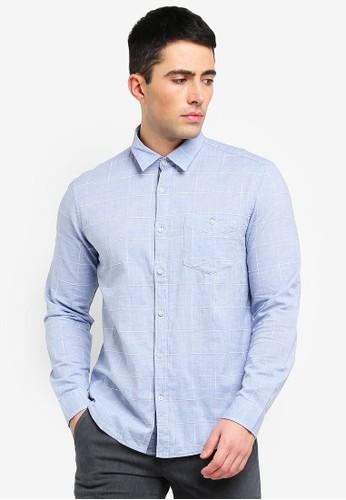 ESPRIT blue Woven Long Sleeve Shirt FD02AAADA987A2GS_1