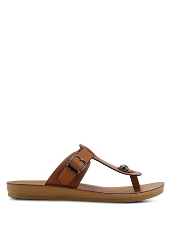 NOVENI brown Low Profile Sandals 9B72FSH455EECCGS_1