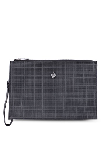 Swiss Polo grey Clutch Bag 617C8ACFC3707BGS_1
