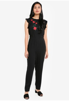 66e2170a11 70% OFF Dorothy Perkins Black Embroidered Jumpsuit RM 234.95 NOW RM 70.90  Sizes 6 8 12