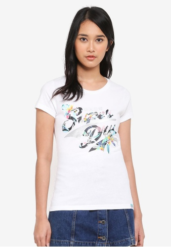 Superdry white Stacker Infill Entry Tee F587BAA10E49B1GS_1