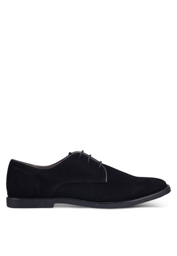 Topman black Black Faux Suede Spark Desert Shoes 0D0B0SH87DEFB3GS_1