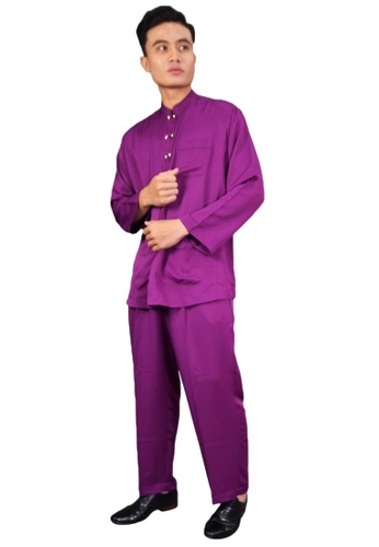 Denai Boutique purple Baju Melayu Iman E50B5AA24370E8GS_1