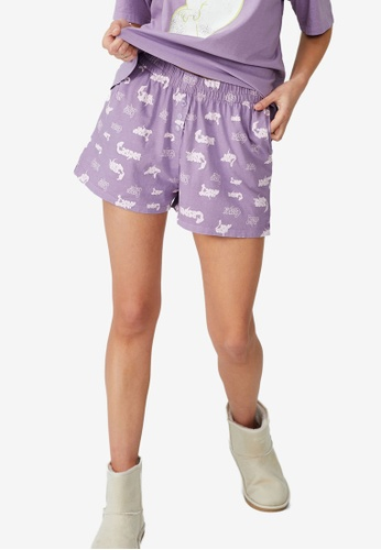Cotton On Body purple Jersey Boxer Shorts D2559AAC70F68DGS_1