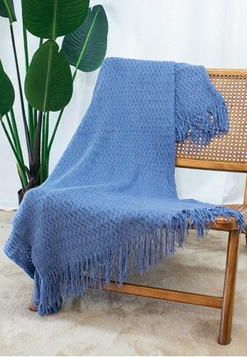 Milliot & Co. blue Wayne Blanket 4E43DHL9FE67C1GS_1