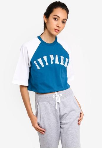 Ivy Park 藍色 LOGO短袖短版T恤 4FD2AAA65826D2GS_1