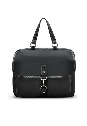 LULUGIFT black Lulugift USA Imported Black Waterproof Canvas Shoulder Bag LU989AC48SYTMY_1