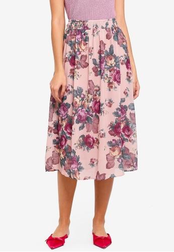 Vero Moda pink Gina Midi Skirt 4D451AA87B0F0CGS_1