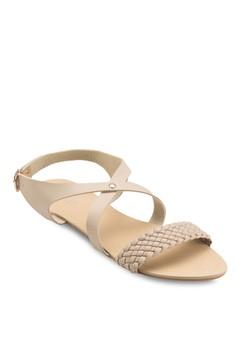 Lynn 編織交叉帶涼鞋