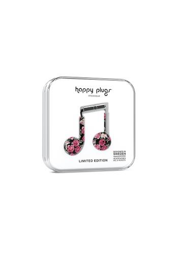happy plugs black and pink Happy Plugs Earbud Plus - Vintage Roses AC927AC05C8E4FGS_1