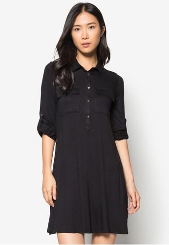 Black Jersey Swing Dress, 服zalora 包包 ptt飾, 正式洋裝