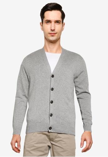 Springfield 灰色 Jersey 針織鈕釦罩衫 81CB4AABE68F68GS_1