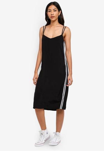 Hopeshow black Slip Dress With Side Stripes 9FAA5AAA35E342GS_1