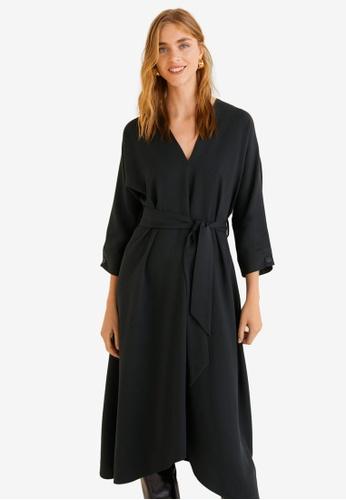 Mango black Bow Gown A1B5CAAEB40752GS_1