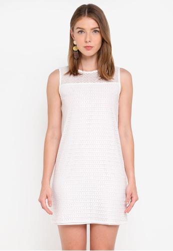 ZALORA white Lace Yoke Dress 15EEBAA3BDAF7CGS_1