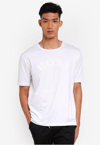 BOSS 白色 短袖印花T恤 9288EAA2B63C92GS_1