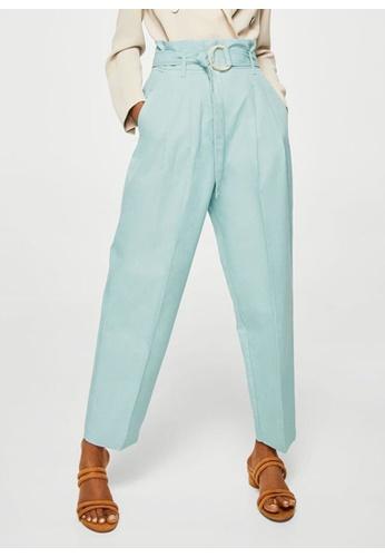 Mango blue Pleat Detail Trousers 5912DAAC8AD9C8GS_1
