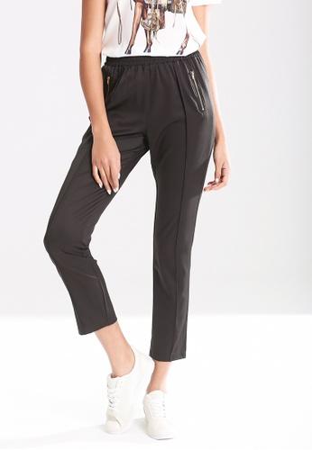 London Rag black Elastic Waist Pleated Pants 5115BAAD29FFAAGS_1