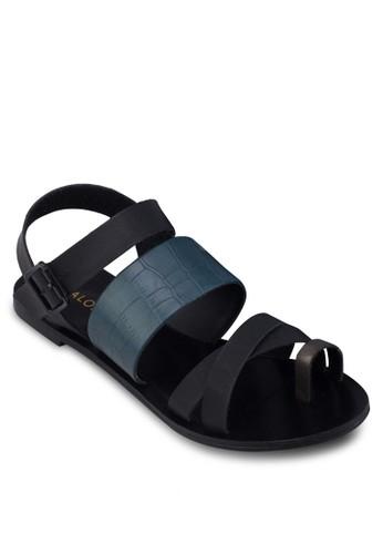 趾環暗紋繞踝涼鞋、 女鞋、 鞋ZALORA趾環暗紋繞踝涼鞋最新折價