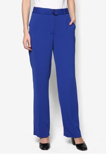 WAREHOUSE blue Straight Leg D-Ring Trousers WA653AA29VVMMY_1
