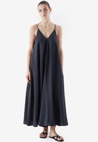 Cos blue V-Neck Slip Dress E56F4AA61599F6GS_1