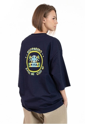 Reoparudo blue and navy IEEO x RPD Colours Adjusting Print Oversized Tee (Dark Blue) 7A7B2AABC251B1GS_1