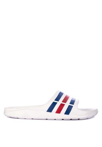 adidas white and blue adidas duramo slide 3D52BSHA93735CGS_1