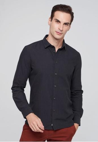 Sisley grey Long Sleeve Shirt A46C1AA0F8594BGS_1